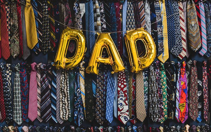 A balloon spelling dad
